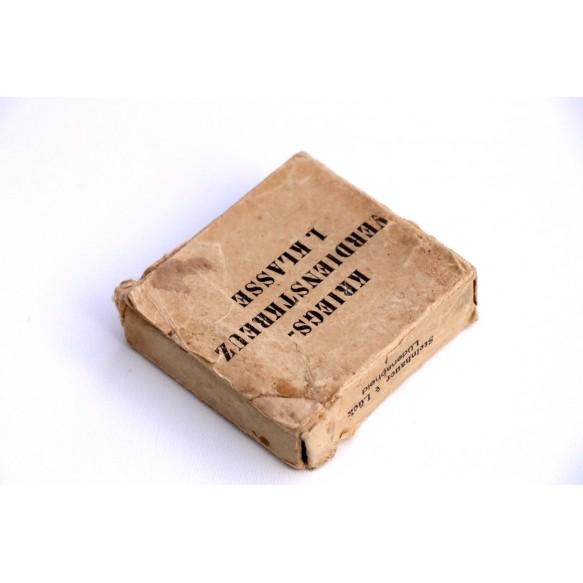"""War merit cross 1st class by Steinhauer & Lück """"4"""" + BOX + cardcoard box"""