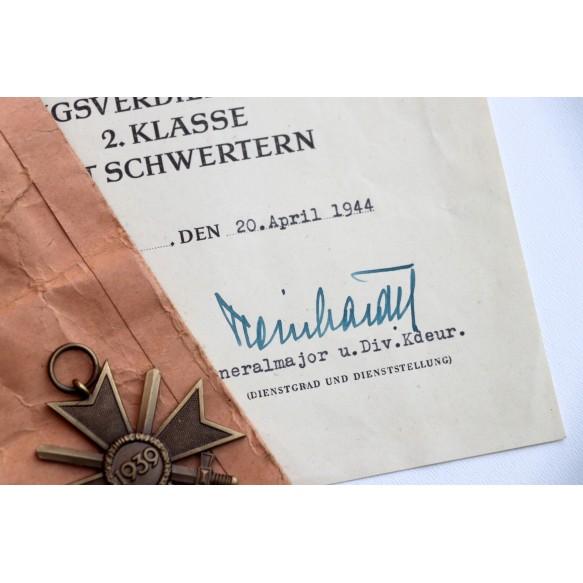 War merit cross 2nd class KIA grouping 1944