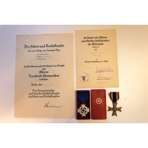 25 year service + KVKII grouping to Werksdirektor Friedrich König