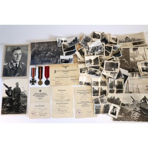 Luftwaffe grouping to Uffz Luitpold Bauer, Flak Reg 49, Juncker EKII, award document, top photos!