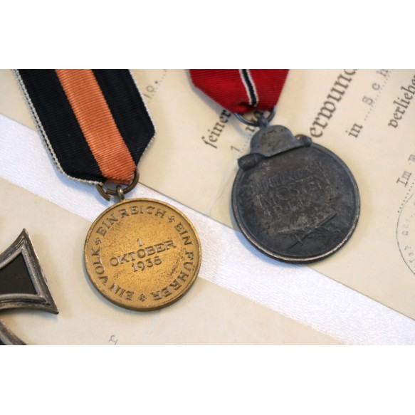 Luftwaffe grouping to Uffz Luitpold Bauer, Flak Reg 49, Juncker EKII, award document, top photos!