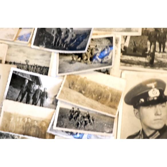 Large Demjansk fighter group, EK2 (SS awarded), CCC, Demjansk shield, photos,...