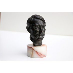 Small bronze buste of Adolf Hitler by artist W. Zoll