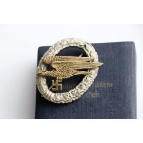 Luftwaffe paratrooper badge by IMME & Sohn, Berlin + early pattern box