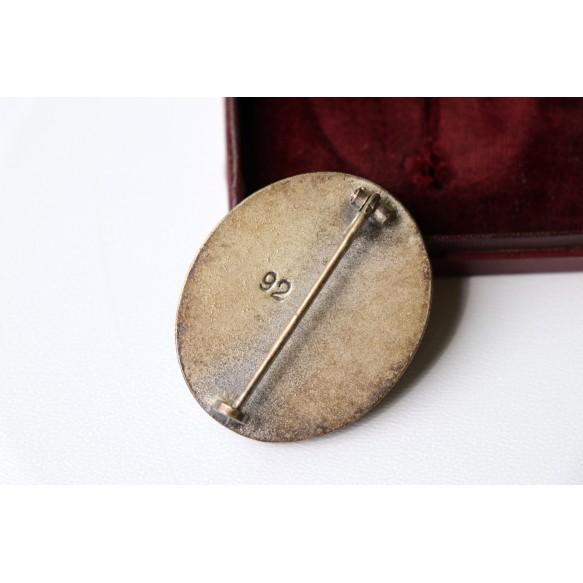 "Wound badge in silver by Josef Rücker & Sohn ""92"" + box"