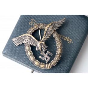 Luftwaffe pilot badge by F.W. Assmann & Sohne + box