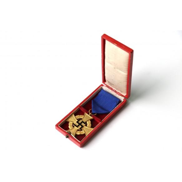 40 year civil service cross + box by Deschler