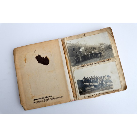 WW1 photo album anti aircraft unit, Belgium, France, Germany 1914-1918 + diary