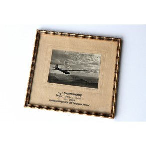 Framed prize 3. Segelflieger Siegermannschaft, Herbstsportkämpfe 1936 DLV Ortsgruppe Durlach