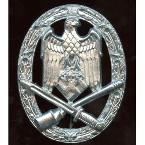 General assault badge in silver by Wilhelm Deumer