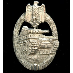 """Panzer assault badge in silver by Karl Wurster """"small w"""""""
