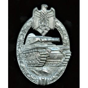 Panzer assault badge in silver by Hermann Aurich