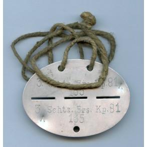 German army ID tag