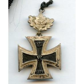 1870 iron cross 2nd class with 25 jubilee oak leaf miniature