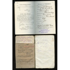 WW1 Militärpass and Soldbuch to August Helsper, IR88, 1916
