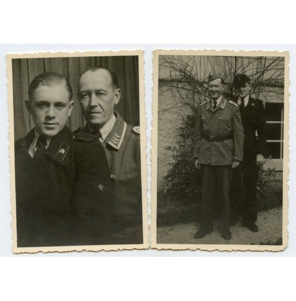 2 private photos panzer crew member and father