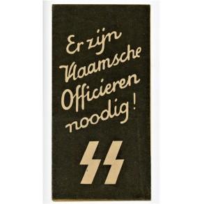 Flemish SS (officers!) volunteer recrutement brochure