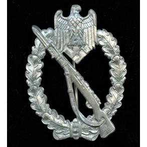 "Infantry assault badge in silver by Deschler & Sohn ""L/10"""