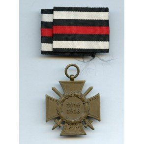 "1914-1918 Honour cross with swords + ribbon ""G"""
