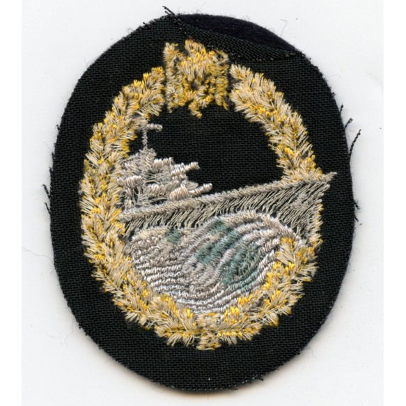 Kriegsmarine destroyer badge in cloth, original price 0.70RM