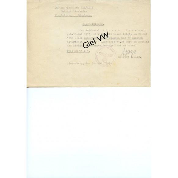 2 NSFK documents, glider pilot C grade