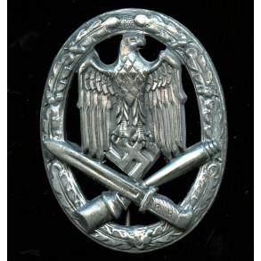 General Assault Badge in silver by Rudolf Karneth, chrome variant