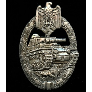 Panzer assault badge in silver by Karl Wurster