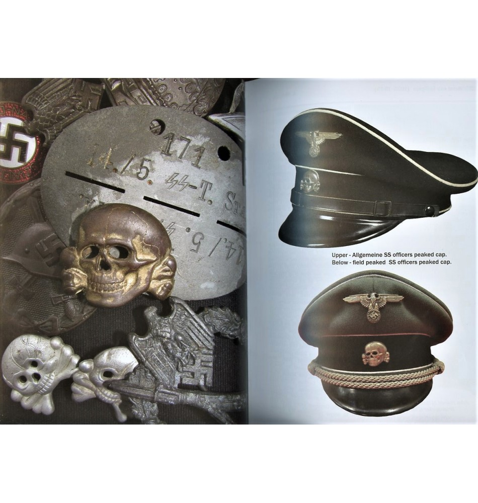 SS Metal Cap Insignia 1935-1945 Andrew Reznik Book WW2 WWII Waffen Badges