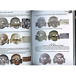 Collectors reference book: SS Metal cap insignia (1935-1945) by Andrew Reznik.