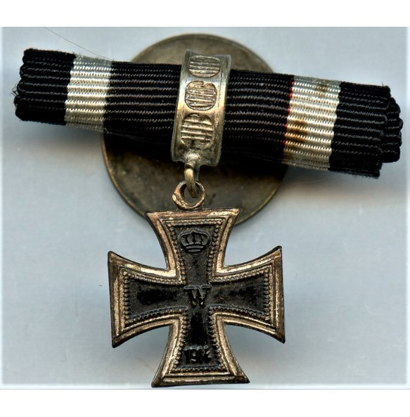 1914 iron cross 2nd class miniature luxury mount
