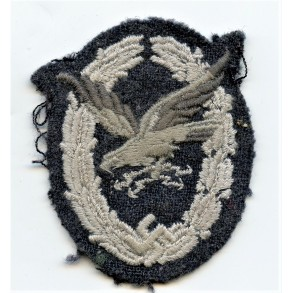 Luftwaffe Radio operator / airgunner badge in cloth