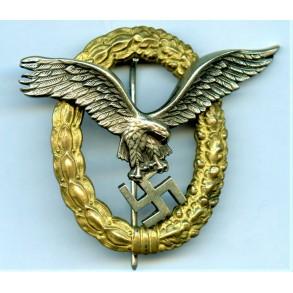 Luftwaffe pilot observer badge by Friedrich Linden