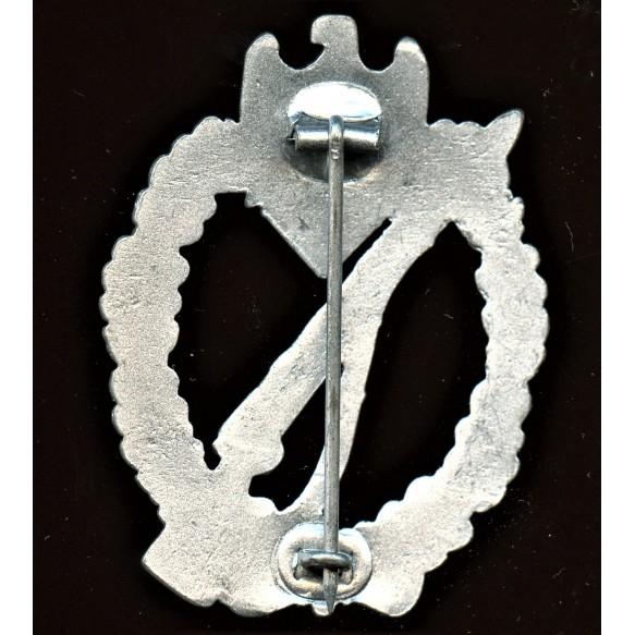 "Infantry assault badge in silver by Wilhelm Deumer ""oval crimp"""