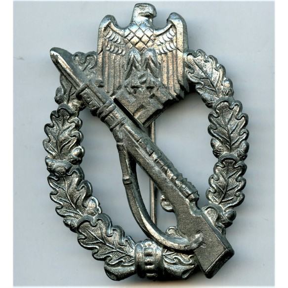 Infantry assault badge in silver by Gottlieb & Wagner + package