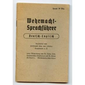 Wehrmacht-Sprachführer German-English
