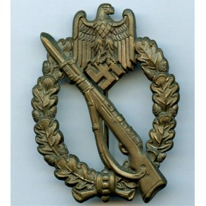 Infantry assault badge in bronze by Frank & Reif