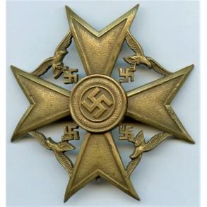 Spanish cross in bronze w/o swords by early unknown maker
