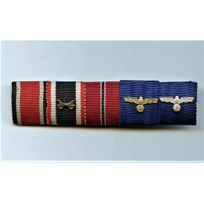 5 place army ribbon bar with 4 and 12 year service awards