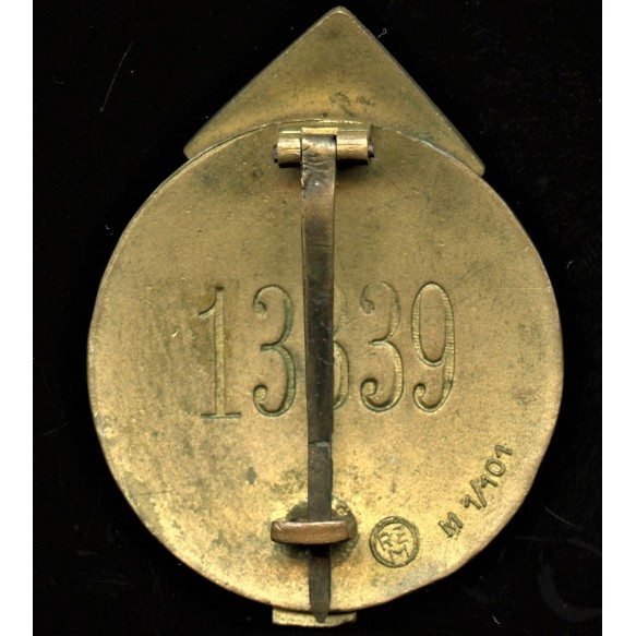 HJ Proficiency badge in gold #13339 by Gustav Brehmer