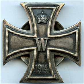 "1914 iron cross 1st class ""800"" silver screwback variant."