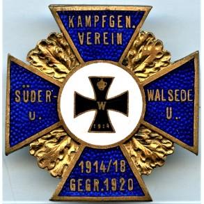 1914-1918 Kampfgen. Verein membership crossby Fr.Reinecke