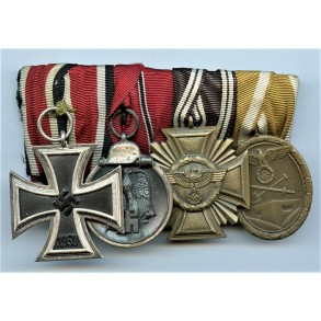 4 place medal bar with NSDAP service medal