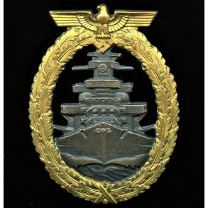Kriegsmarine high sea fleet badge by Schwerin