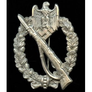 Infantry assault badge in silver by R.  Souval, Juncker catch