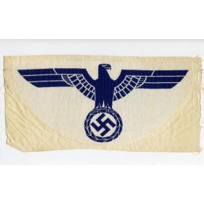 Kriegsmarine sport shirt breast eagle 25.5cm.