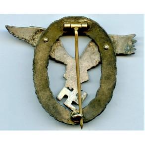 "Luftwaffe pilot observer badge by C.E. Juncker ""J4"""