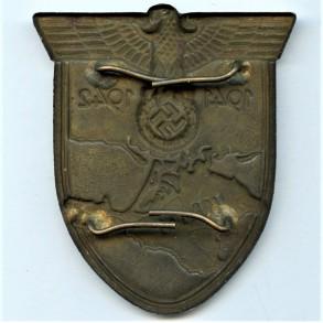 Krim shield by K. Wurster, maker mark!