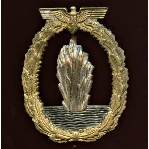 "Kriegsmarine minesweeper badge by Richard Simm & Sohne ""R.S.S."""