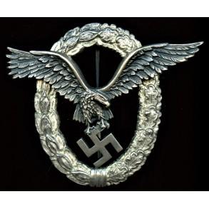 Luftwaffe pilot badge by Wilhelm Deumer