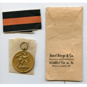 1st october Czech annexation medal + package by Josef Bergs & Co.